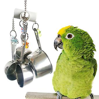 Parrot Pot Toys Acrylic Stainless Steel Toy