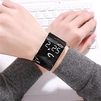 Beau bracelet étanche Papier Montre Led Horloge Numérique En Papier Bracelet