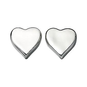 Elementer Sterling Sølv Ladies Heart Studs