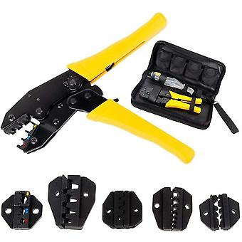 Cable Crimper - With 5 Interchangeable Jaws - Screwdriver - Crimping Tool Crimping Tool - Storage Case