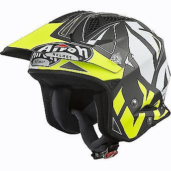 Airoh TRR S Convert Trials Open Face Trials Helmet Yellow