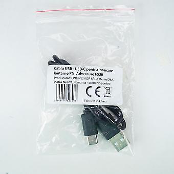 Câble USB - USB-C pour charger les lampes de poche PNI Adventure F550, PNI Adventure F650