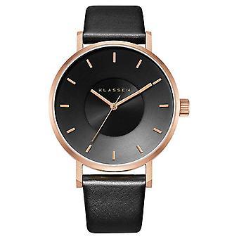 Klasse14 Volare Dark Rose 42mm Black Leather Strap VO16RG005M Watch