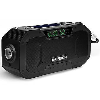 Solar hand-cranked radio, outdoor multi-function emergency radio, bluetooth speaker(Color-2)