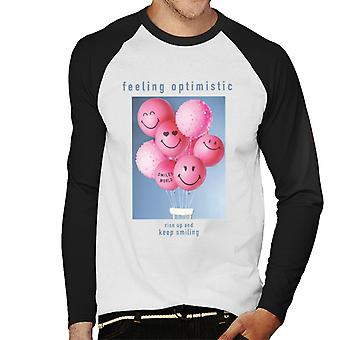 Smiley World Rise Up And Keep Smiling Men's Baseball Long Sleeved T-Shirt