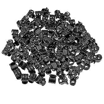 100x Small Hair Clips - Black