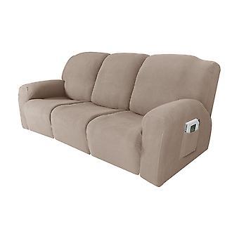 Vilbara soffskydd sträcker lutande soffskydd för 1/2/3 kudd soffa möbler skydd funktion med elastisk botten, sand
