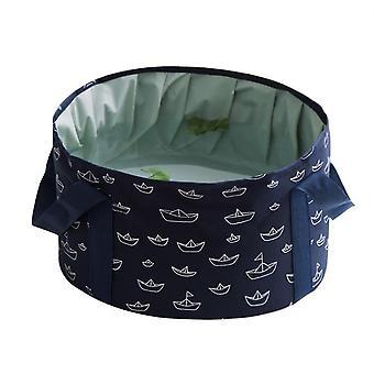 Portable Foldable Washbasin For Travel Laundry Washbasin Washbasin(Dark Blue)