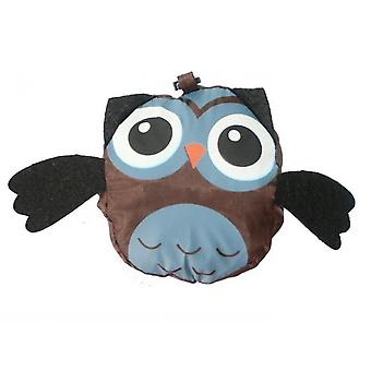 Animal Shopping Bag Portable Cute Owl Folding Storage Bag(Coffee)