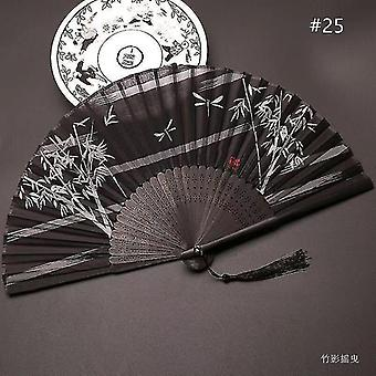 Chinese Vintage Style Folding Fan Art Craft Gift Dance Hand Fan Home Decoration Ornaments(#25)