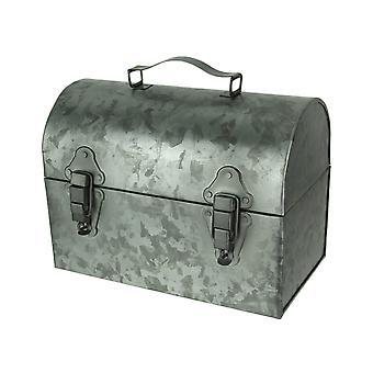 Galvanized Metal Vintage Lunchbox Decor Accent