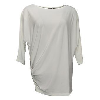 IMAN Global Chic Women's Top Illusion Chic Dolman-Sleeve White 760392