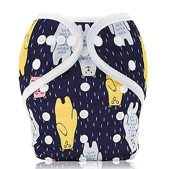 Baby Diaper Cover Double Gussets Reusable Cloth Nappy Cover Wrap