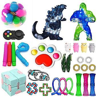 Fidget Toys Set 30 stk lindrer stress og angst Fidget Legetøj