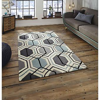 HK 7526 Grey Blue  Rectangle Rugs Modern Rugs
