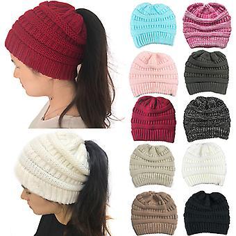 2ks Ženy pletený klobouk Culík Čepice Klobouk na podzimní zimu