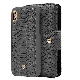 iPhone Xs Max Marvêlle Magnetiskt Skal & Plånbok Askgrå