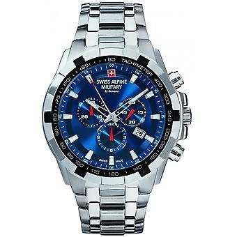 Swiss Alpine Military Silver Acero inoxidable SAM7043.9135 Reloj de hombre