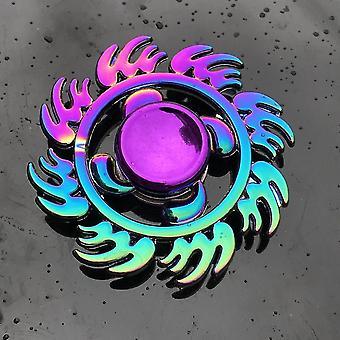 Spinning tops anti stress fidget rainbow modern futuristic metal finger spinner q3