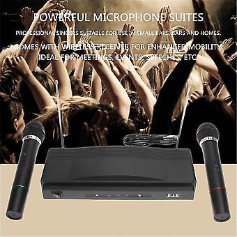 Microphones universal wireless dual handheld 2 x mic receiver pop/shock noise protection