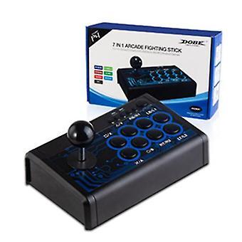 Kabelový herní ovladač 7 v 1 arkádový bojový rocker konzole pro přepínač / ps4 / ps3 / xbox / pc /