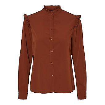 Shuuk Button-Down Shirt with Ruffle Details