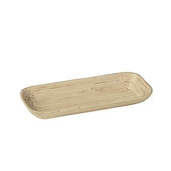 Kyoto-Rect Serving Tray gesponnen Bambus 30x12cm
