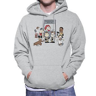 Paranormal Help Ghostbusters Peanuts Men's Hooded Sweatshirt