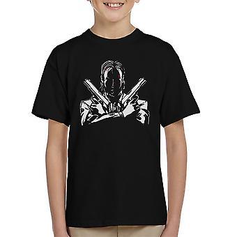 John Wick Dual Pistols Kid's T-Shirt