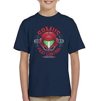 Metroid, Samus Pest Control Kid's T-Shirt