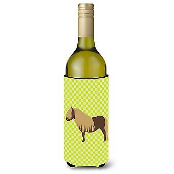 Shetland Pony Pferd grüne Weinflasche Beverge Isolator Hugger