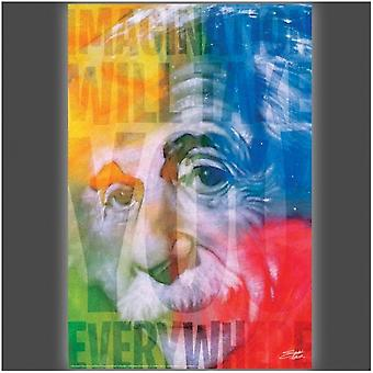 Imagination Will Take You Everywhere Poster Poster Print by Stephen Fishwick