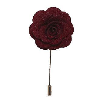 Burgunder håndlaget Flower/Rose jakkeslaget Pin for bruk med menn dressjakke, blazer, middag jakke eller tuxedo jakke
