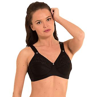 LingaDore 1341-2 Women's Lisette Black Non-Padded Non-Wired Full Cup Bra