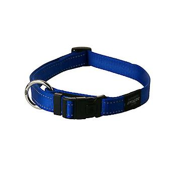 Rogz Utility Bright Reflekterande tålig hund krage, Blå