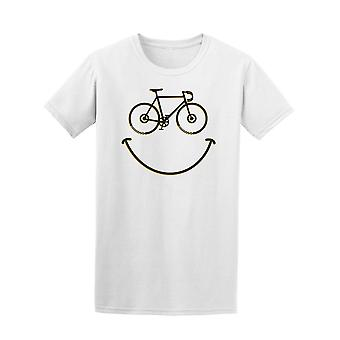 Smile Bicycle Doodle Tee Men's -Image by Shutterstock