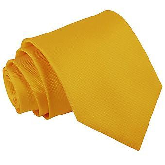 Zonnebloem gouden solide Check klassieke Tie