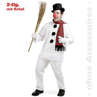 Mens de bonhomme de neige neige hiver costume costume snow homme
