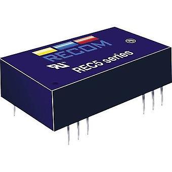 RECOM REC5-2412SRW/H2/A DC/DC محول (الطباعة) 24 V DC 12 V DC 556 mA 5 W No. من النواتج: 1 x