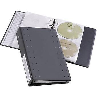 Kestävä 2 x CD/DVD kansio 20 CD/DVD/Blu-säteiltä antrasiitti 10 PCs() (L x l x K) 295 x 193 x 6 mm 520458