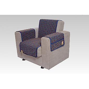 Podłokietniki - i fotel wygaszacz zestaw z 2 kieszenie MALI kolor: niebieskie wełny
