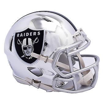 Riddell mini football helmet - NFL CHROME Oakland Raiders