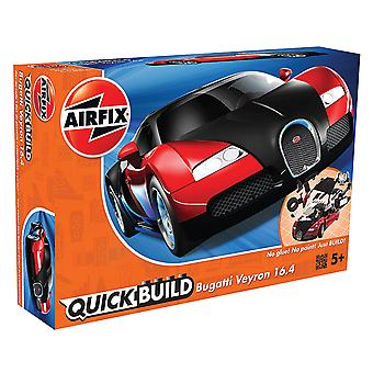 Airfix J6020 Quick Build Bugatti Veyron - Sort / Rød Model Kit