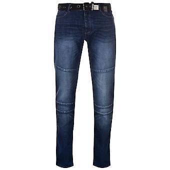 Barril de pólvora Mens Portlnd Jean Jeans cônico calças calças Bottoms