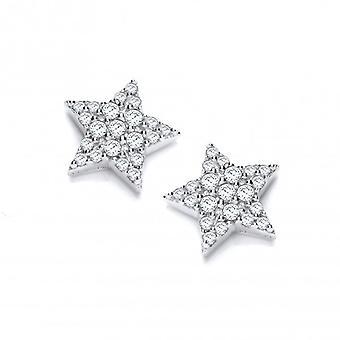 Cavendish francese argento e zirconi Orecchini notte stellata