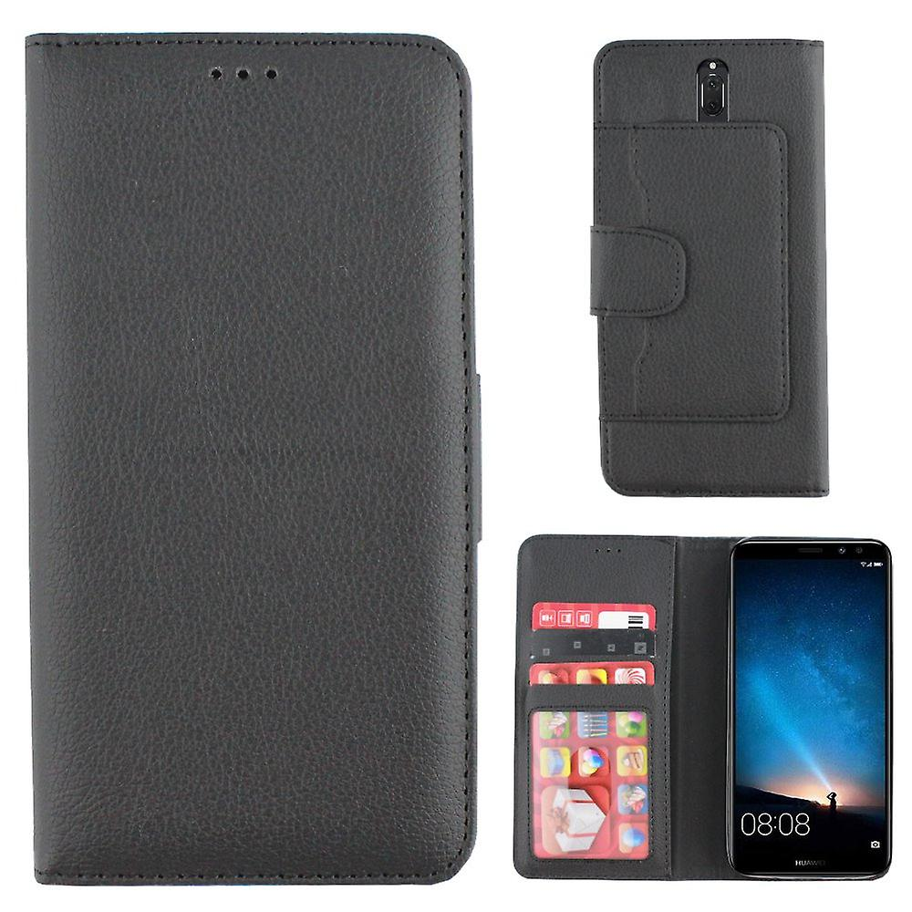 Colorfone Huawei Mate 10 LITTLE portefeuille Case (BLACK)