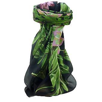 Mulberry Silk współczesny plac szalik kwiatowy F218 przez Pashmina & Silk