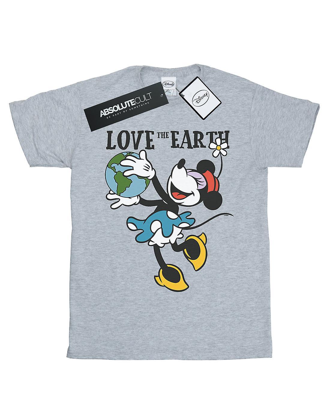 Disney Women's Mickey Mouse Love The Earth Boyfriend Fit T-Shirt