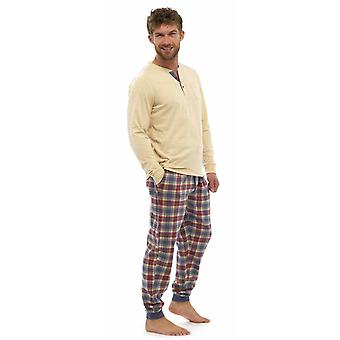 Mens chaud Jersey Top & flanelle Bottoms Pyjama Lounge Wear
