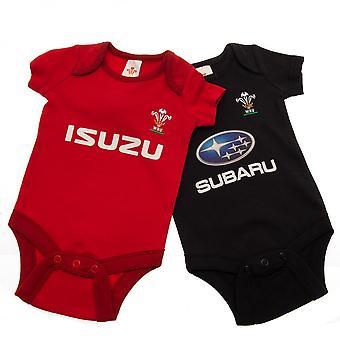 Wales RU Baby Bodysuit (Pack Of 2)